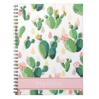 Personalisiertes Kaktus-Druck-Notizbuch Notizblock