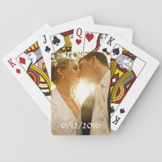 Personalisiertes Kartenstapeles Wedding Foto Kartendeck