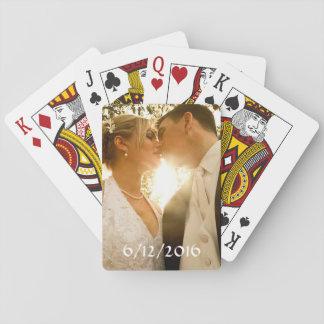 Personalisiertes Kartenstapeles Wedding Foto Spielkarten
