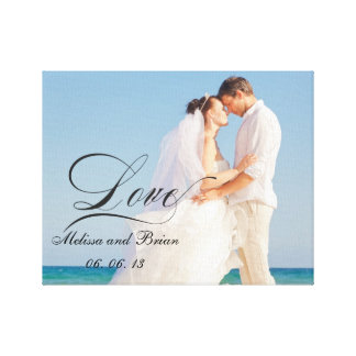 Personalisiertes Liebe-Hochzeits-Porträt Leinwand Druck