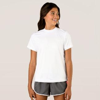 Personalisiertes Mädchen-Meister-Doppelt-trockene T-Shirt