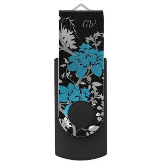 Personalisiertes modernes Blumen Swivel USB Stick 3.0