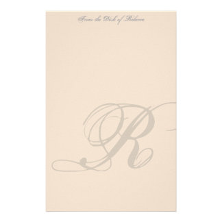 Personalisiertes Monogramm-Briefpapier Individuelles Büropapier