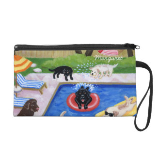 Personalisiertes Pool-Party Labradors