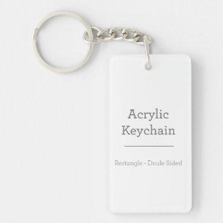 Personalisiertes rechteckiges Keychain Schlüsselanhänger