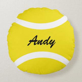 Personalisiertes rundes gelbes Tennisball Rundes Kissen
