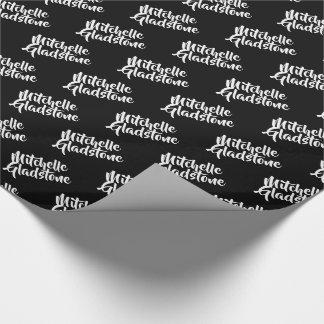 Personalisiertes Schwarzes BTMF Geschenkpapier