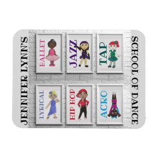 Personalisiertes Tanz-Studio-Lehrer-Ballett Magnet