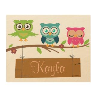 Personalisiertes Zeichen für Kinder Holzleinwand