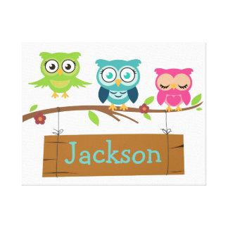 Personalisiertes Zeichen für Kinder Leinwanddruck