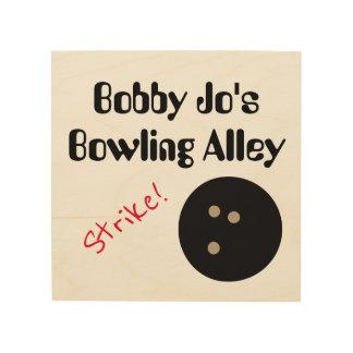 "Personalizable Bowlings-Gassen-""Streik! ""mit Ball Holzleinwand"