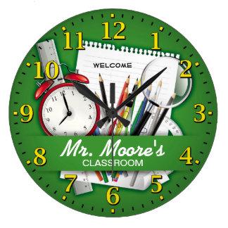 Personalizable das Klassenzimmer des Lehrers Uhr