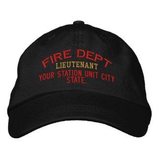 Personalizable Leutnant Firefighter Hat Bestickte Kappe