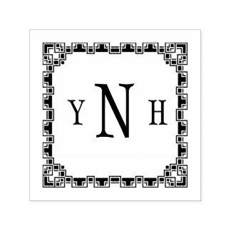 Personalizable mit Dreibuchstabe Monogramm Permastempel