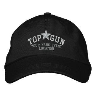 Personalizable Top Gun Stern-Stickerei Bestickte Kappen