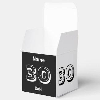 Personifizieren Sie 30. Geburtstag Geschenkschachtel