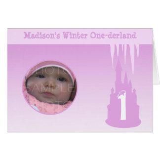 Personifizieren Sie Geburtstags-Mädchen-Winter Grußkarte