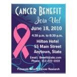 Personifizieren Sie Krebs-Nutzen - Brustkrebs-Flye Vollfarbige Flyer