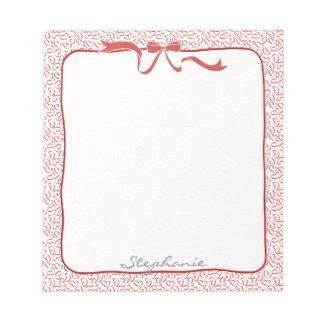 Personifizieren Sie: Valentine-rotes Notizblock