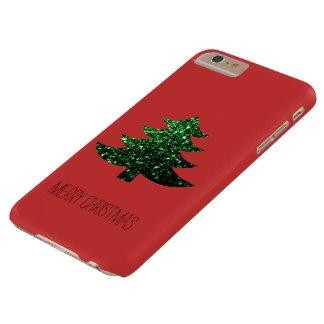 Personifizieren Sie Weihnachtsbaum-Grün-Glitzern Barely There iPhone 6 Plus Hülle