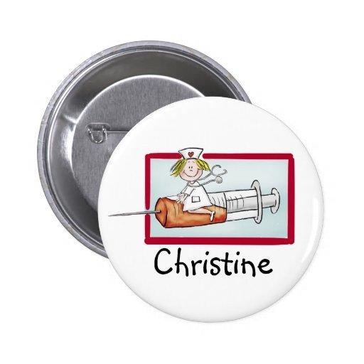 Personlaize mit Namen - Knopf für Supernurse Buttons