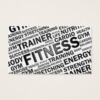Persönliche Trainer-u. Fitness-Geschäfts-Karte Visitenkarte