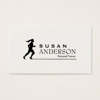 Persönliche Trainer-u. Fitness-Geschäfts-Karte Visitenkarten
