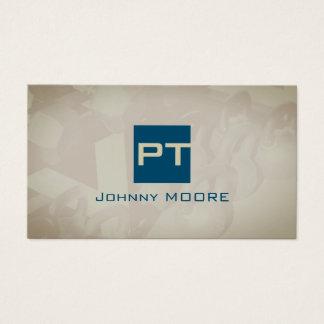 Persönliche Trainerlogo-Initialenform modern Visitenkarten