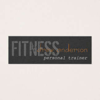 Persönlicher Trainer-dünne elegante Visitenkarte