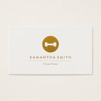 Persönlicher Trainer-funkelnde Logo-Visitenkarte Visitenkarten