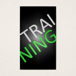 Persönlicher Trainer oder Visitenkarten