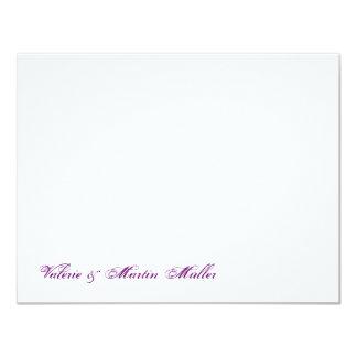 Persönliches Briefpapier oder Danksagung Hochzeit 10,8 X 14 Cm Einladungskarte