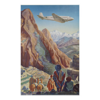 Peru des Inka-Vintagen Reise-Plakats Poster