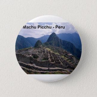 Peru die Ruinen von Machu Picchu (St.K.) Runder Button 5,7 Cm