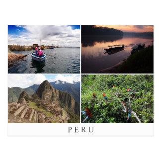 Peru-Landschaften in der Collagenandenken Postkarten