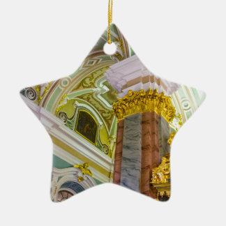Peter- und Paul-Festungs-St. Petersburg Russland Keramik Stern-Ornament