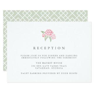 Petite Blumenstrauß-Empfangs-Karte | erröten 8,9 X 12,7 Cm Einladungskarte