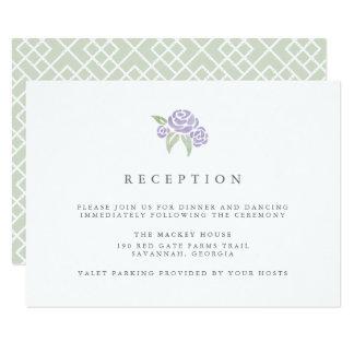 Petite Flieder der Blumenstrauß-Empfangs-Karten-| 8,9 X 12,7 Cm Einladungskarte