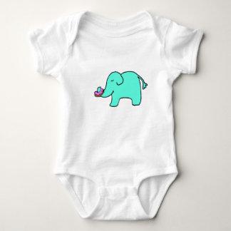 Petunie der Elefant - besprühen Sie Krapfen Baby Strampler