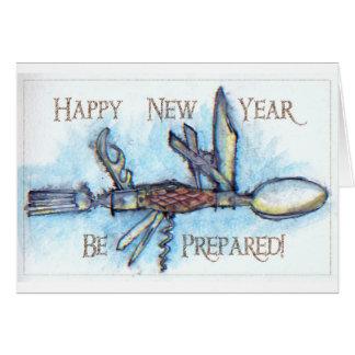 Pfadfinder-Messer-neue Jahr-Karte Karte