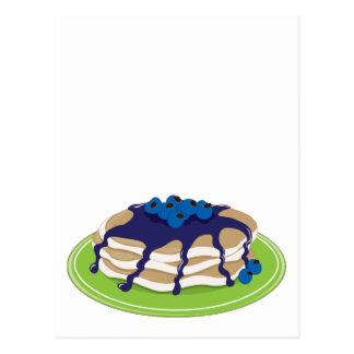 Pfannkuchen-Blaubeere Postkarte