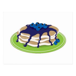 Pfannkuchen-Blaubeere Postkarten