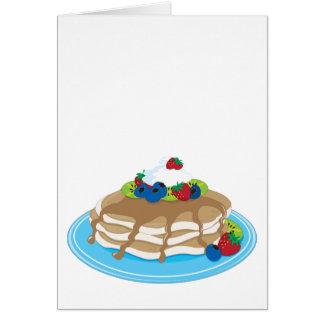 Pfannkuchen-Frucht Grußkarte