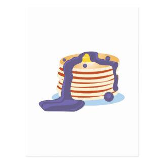 Pfannkuchen-Stapel Postkarte
