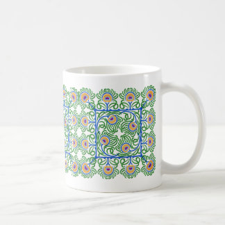 Pfau-Feder-Stickerei-Ähnliche Tasse