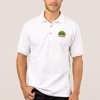 Pfau-Krankenschwester Poloshirt
