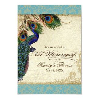 Shop Zazzle's selection of peacock wedding invitations for your special day!