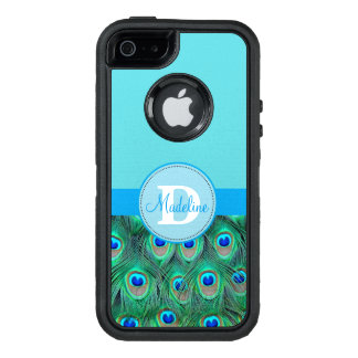 Pfau und blauer mit Monogramm Otterbox Kasten OtterBox iPhone 5/5s/SE Hülle