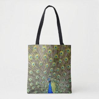 Pfau versieht Taschen-Einkaufstasche des Schwanzes