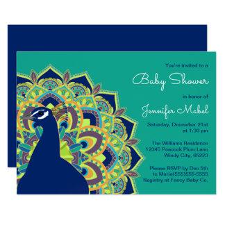 Pfaumandala-Baby-Duschen-Party Einladung